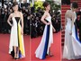 Marion Cotillard e Milla Jovovich vo de vestidos Chanel e Dior a premire