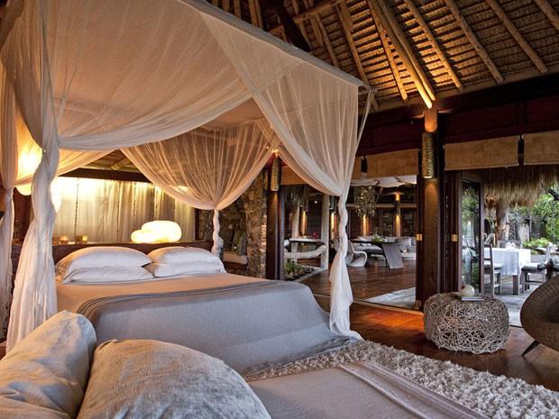 O quarto dos hóspedes (Foto: Andrew Howard//Wilderness Safaris/Divulgação)