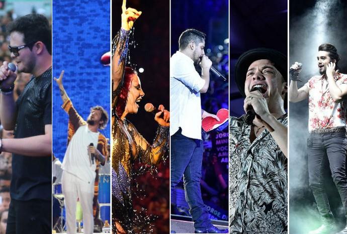 Seis atrações fecham a última noite do Festival de Verão 2016 (Foto: Arte / G1)