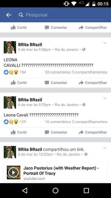 Posts de Marcia Brito (Foto: Reprodução/Facebook)