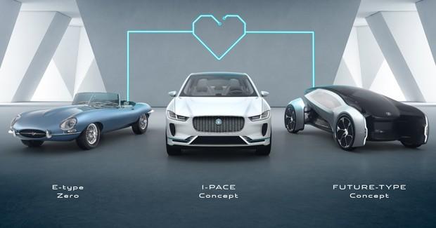 E-Type Zero, I-Pace e Future-Type são as apostas da Jaguar entre 2018 e 2040 (Foto: Divulgação)
