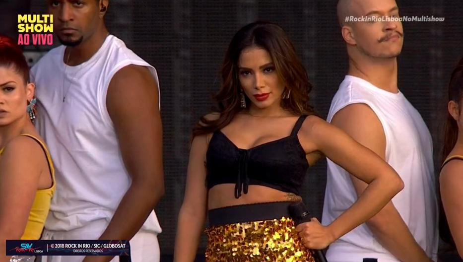 Anitta se apresentou pela prieira vez no Rock in Rio Lisboa (Foto: Divulgao)
