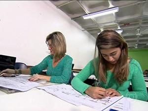 Sala de Emprego - curso para tecnólogo (Foto: TV Globo)