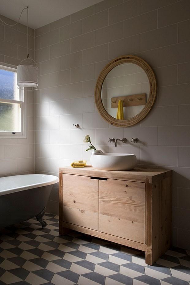 Top 10 banheiros com ladrilhos hidráulicos (Foto: divulgaçao)