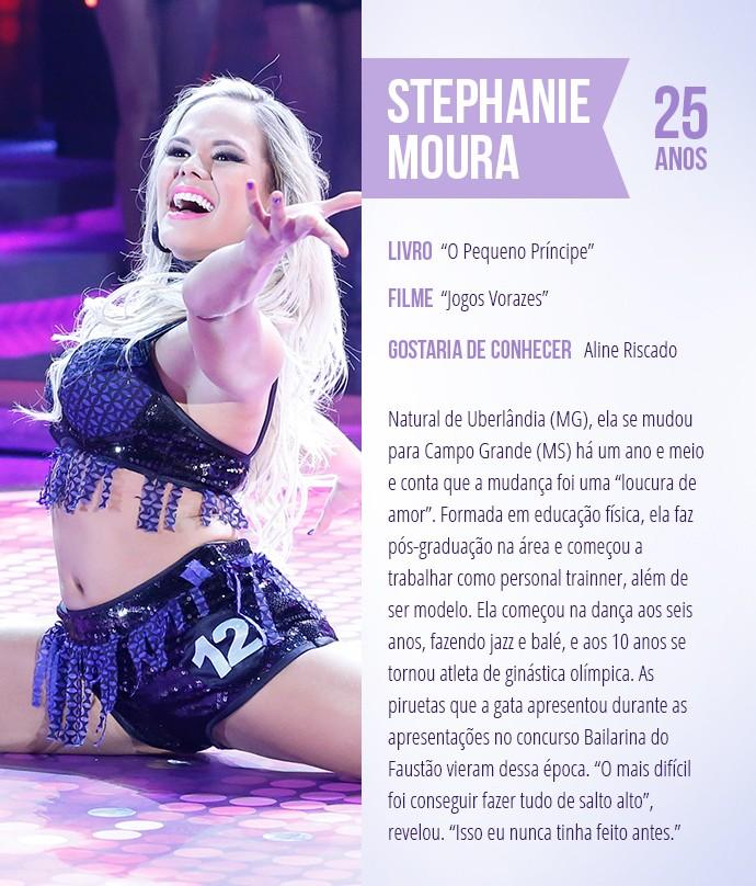 Saiba mais sobre Stephanie Moura (Foto: Arte: Thays Malcher)