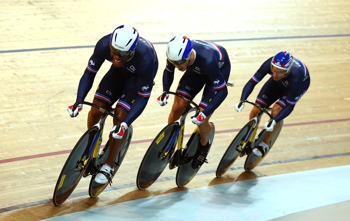 Gergory Bauge, Michael D'Almeida e Kevin Sireau, 2015 UCI Track Cycling World Championships (Foto: Getty Images)