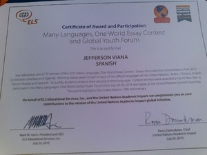 Estudante ganhou diploma por redação (Foto: Arquivo Pessoal)