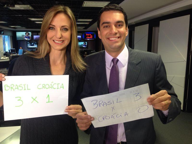Adriana Krauss e Raphael Faraco sugeriram placar (Foto: Divulgação)