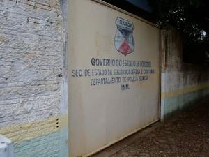 IML de Ariquemes (Foto: Jeferson Carlos/G1)