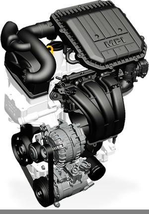 Motor 3 cilindros do Up! tem 999 cm³ (Foto: Divulgação)