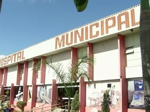 Hospial Municipal de Anápolis, em Goiás (Foto: Reprodução/TV Anhanguera)