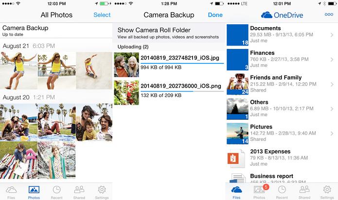 OneDrive agora oferece mais espaço para suas fotos (Foto   Divulgação AppStore) 014c0d67e6