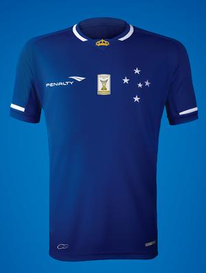 9d13774f5fdb6 Camisa do Cruzeiro para a temporada 2015 (Foto  Reprodução   Facebook do  Cruzeiro)