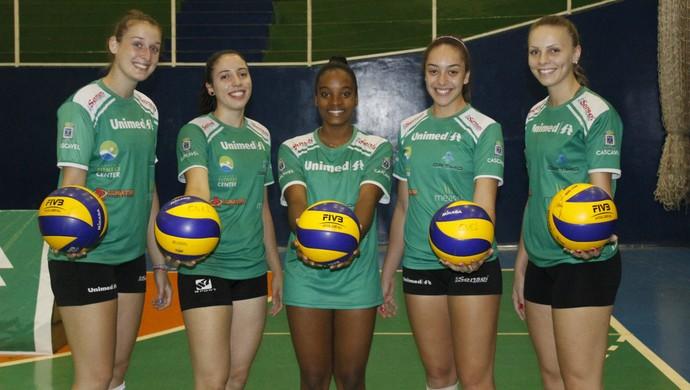 Vôlei Cascavel jogadoras (Foto: Prefeitura de Cascavel/Divulgação)