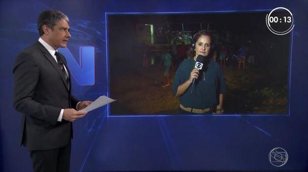 Carla Suzanne durante participação no Jornal Nacional (Foto: Divulgação / TV Sergipe)