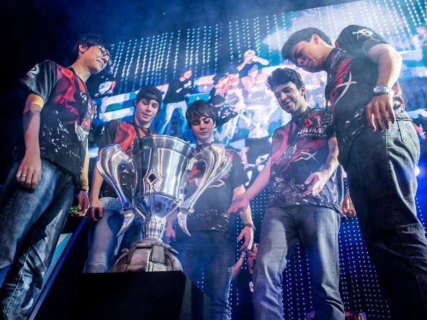 Kabum foi campeã brasileira de 'League of Legends' e tenta vaga no mundial da categoria (Foto: Bruno Alvares/Riot Games)
