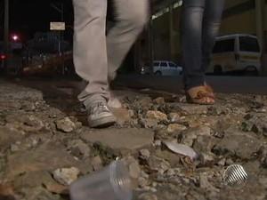Calçadas de Salvador (Foto: Reprodução/ TV Bahia)