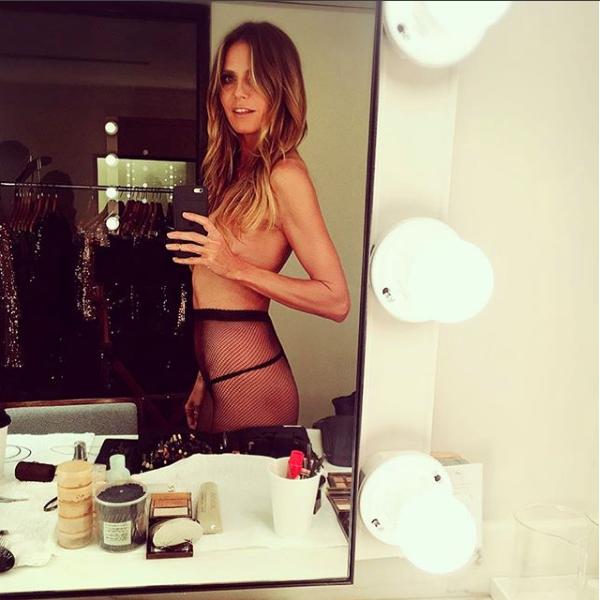 Heidi Klum em clique feito em 2017 (Foto: Reprodução/Instagram)