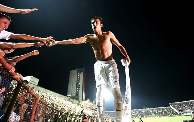 Neymar comemoração jogo Santos Mogi Mirim (Foto: Alex Silva / Ag. estado)