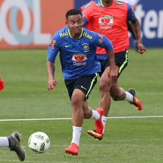 Gabriel Jesus Treino Seleção Brasileira Olímpica (Foto: Lucas Figueiredo / MoWA Press)