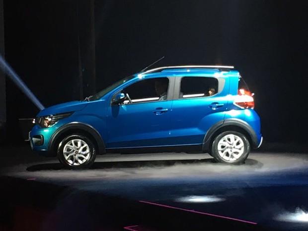 Fiat Mobi foi apresentado nesta quarta-feira (13) (Foto: André Paixão / G1)