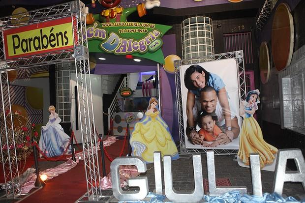 Decoração do aniversário de Giulia, filha de Scheila Carvalho (Foto: Iwi Onodera / EGO)