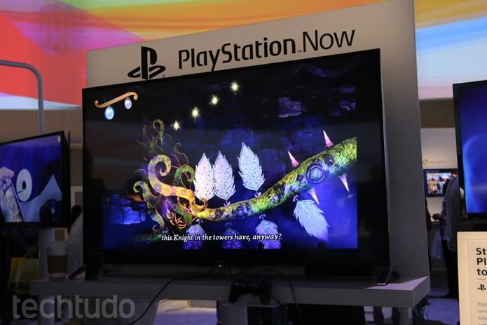 Playstation Now na CES 2014 (Foto: Isadora Díaz/TechTudo)