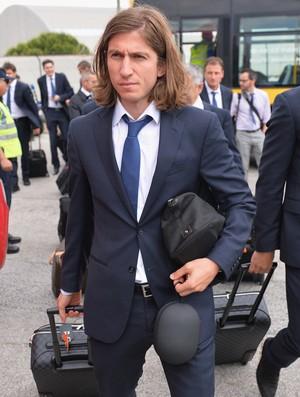 Filipe Luís Atlético de Madrid chegada lisboa (Foto: Getty Images)
