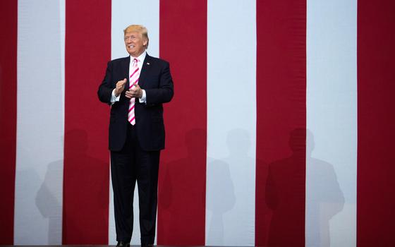 O presidente dos Estados Unidos Donald Trump  (Foto:  Tom Brenner/The New York Times)