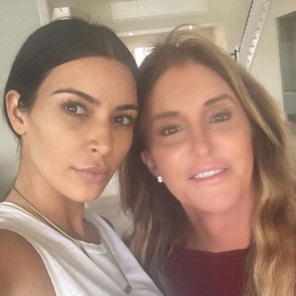 Kim Kardashian e Caitlyn Jenner (Foto: Reprodução Instagram)