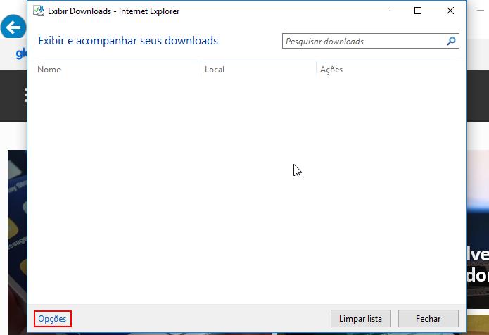1b65d0418 Acessando as opções de downloads do Internet Explorer (Foto   Reprodução Edivaldo Brito)