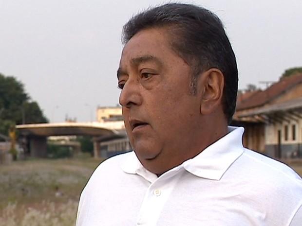 João Davi trabalhou por décadas como ferroviário e, atualmente, integra o sindicato da categoria (Foto: Reprodução/TV Fronteira)