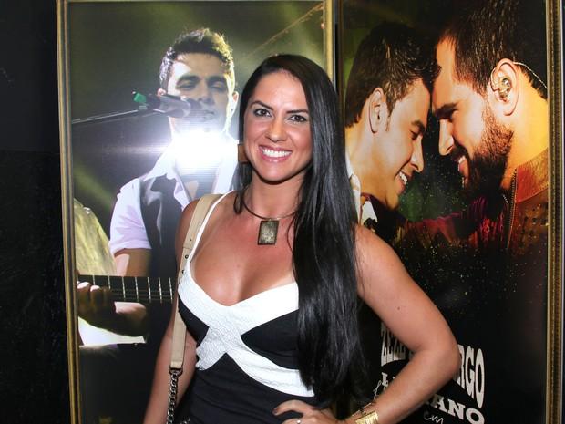 Graciele Lacerda em show em São Paulo (Foto: Thiago Duran/ Ag. News)