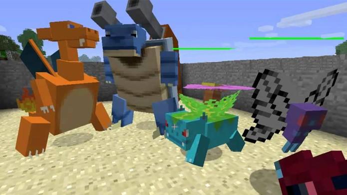 Pokémon é um dos muitos temas recorrentes em mods de Minecraft (Foto: YouTube)