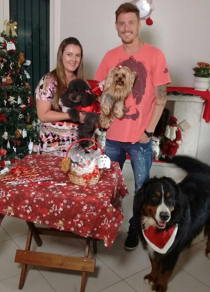 Pet spa oferece atendimento para os bichinhos também no Natal (Foto: Mistura/RBS TV)
