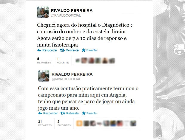 twitter Rivaldo lesão  (Foto: Reprodução / Twitter)