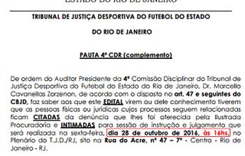 TJD-RJ marca julgamento que pode mudar campeão da Copa Rio