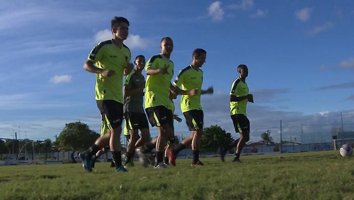 Botafogo-PB, treino (Foto: Reprodução / TV Cabo Branco)