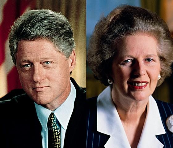 Bill Clinton e Margaret Thatcher (Foto: Corbis)