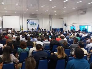 encontro; seminário; sebrae; público; palestra; palco (Foto: John Pacheco/G1)