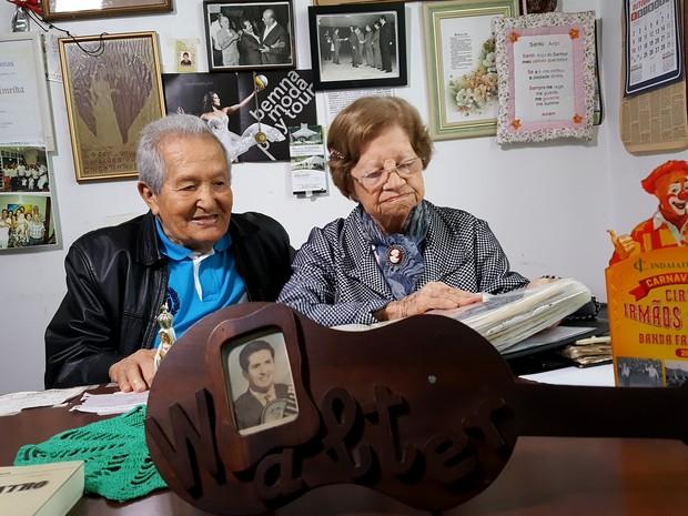 Walter e Paulina estão juntos há 68 anos (Foto: Fernando Pacífico / G1)
