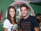 Ex-BBBs Franciele e Diego curtem feijoada no Rio