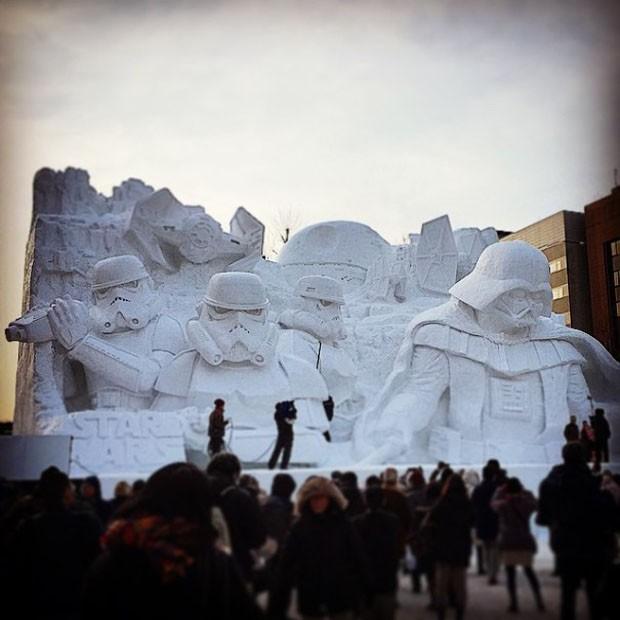 Star Wars de neve (Foto: Divulgação)