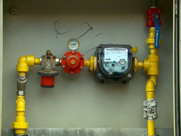 Gás natural abastece casas em Poços de Caldas (Foto: Reprodução EPTV)
