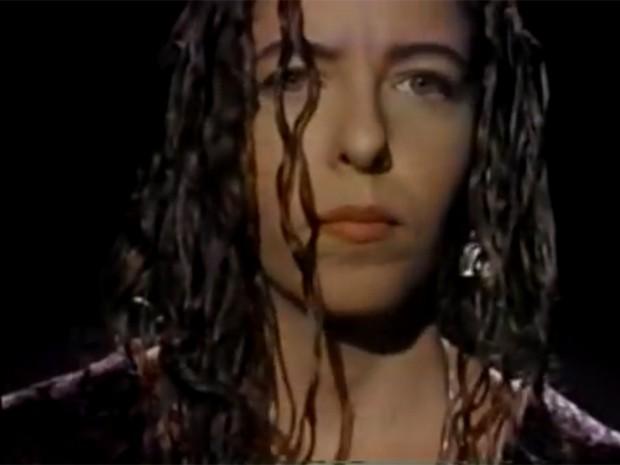 Vange Leonel no clipe da música 'Noite preta', seu maior sucesso (Foto: Divulgação)