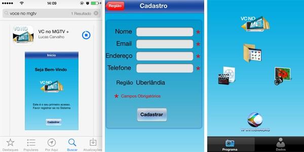 Novo designer do app 'Vc no MGTV' para iOS (Foto: Divulgação / TV Integração)
