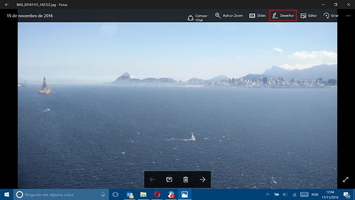 Windows 10 ganhou desenho de fotos no aplicativo de galeria do sistema (Foto: Reprodução/Elson de Souza)