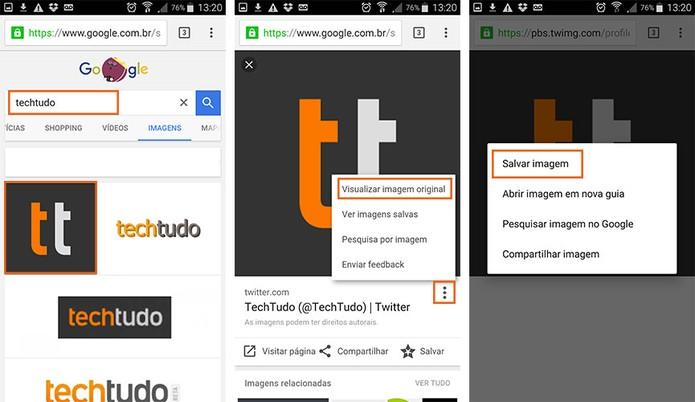 Salve imagens do Google no Android pelo Chrome (Foto: Reprodução/Barbara Mannara)