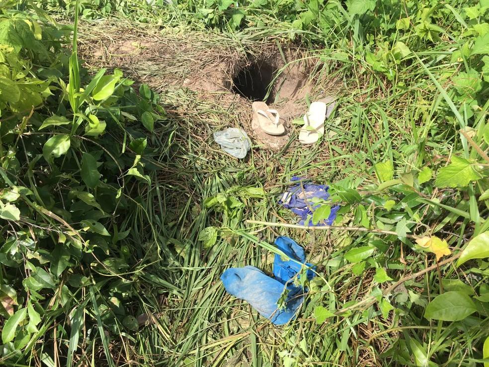 Detentos usaram buraco para escapar da Penitenciária Estadual de Parnamirim no dia 25 de maio  (Foto: Aura Mazda/Tribuna do Norte)