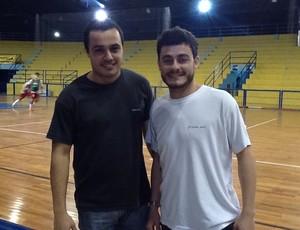 Jhonathan Lian e Rafael Boher não perdem um jogo do Volta Redonda (Foto: Ana Cláudia Gonçalves/GLOBOESPORTE.COM)